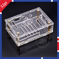 Acrylic Case for Raspberry Pi 2 model B/B+ HIFI DiGi+ Digital Sound Audio Card