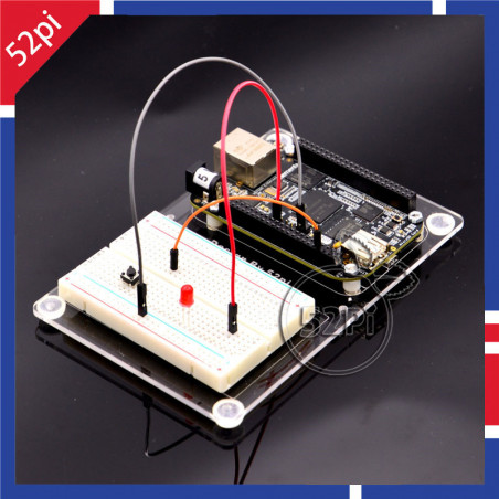 2-layer Transparent Acrylic Case Clear Shell Enclosure with Logo for Raspberry Pi 2 Model B & Raspberry Pi B plus