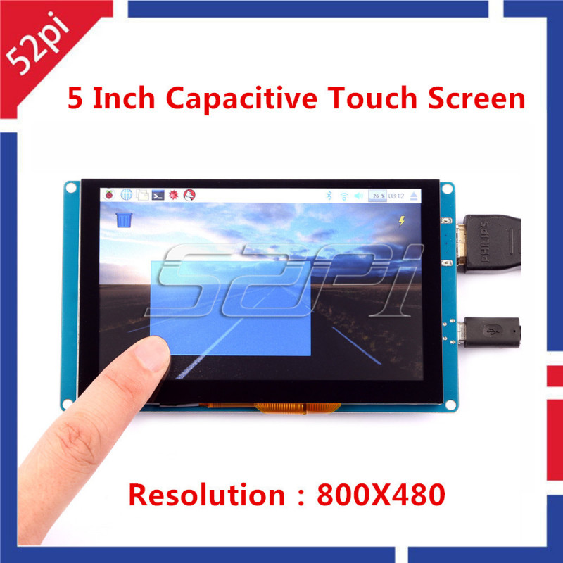 5 Inch Capacitive Touch Screen 800x480 HDMI Monitor TFT LCD Display for  Raspberry Pi & BeagleBone Black & PC